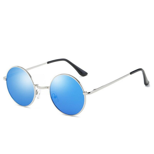 blue vintage polarized sunglasses for woman