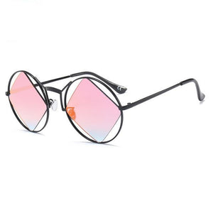 red polarized retro sunglasses