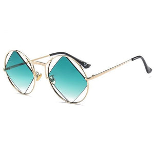 green polarized retro sunglasses