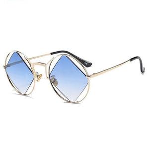blue polarized retro sunglasses