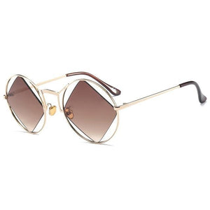 coffee polarized retro sunglasses
