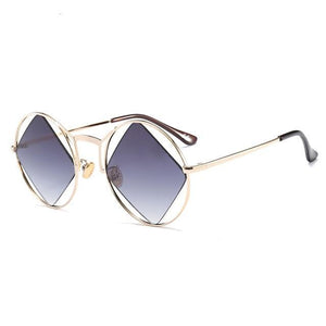 black polarized retro sunglasses