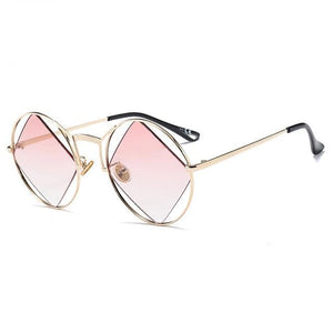 pink polarized retro sunglasses