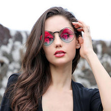 Load image into Gallery viewer, red polarized retro sunglasses