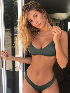 green bikini set swimwear for woman
