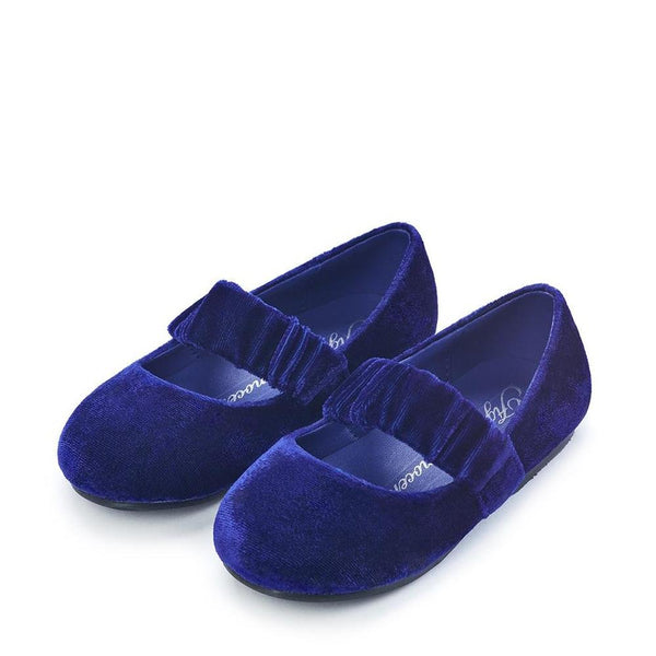 Anna Velvet Navy Shoes by Age of Innocence
