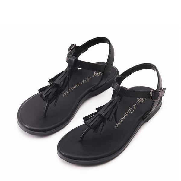 Luna Black Sandals by Age of Innocence