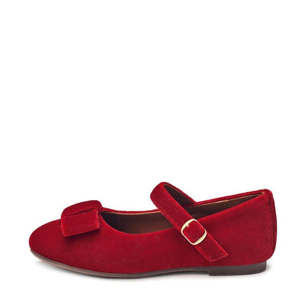 Ellen Velvet red Shoes by Age of Innocence