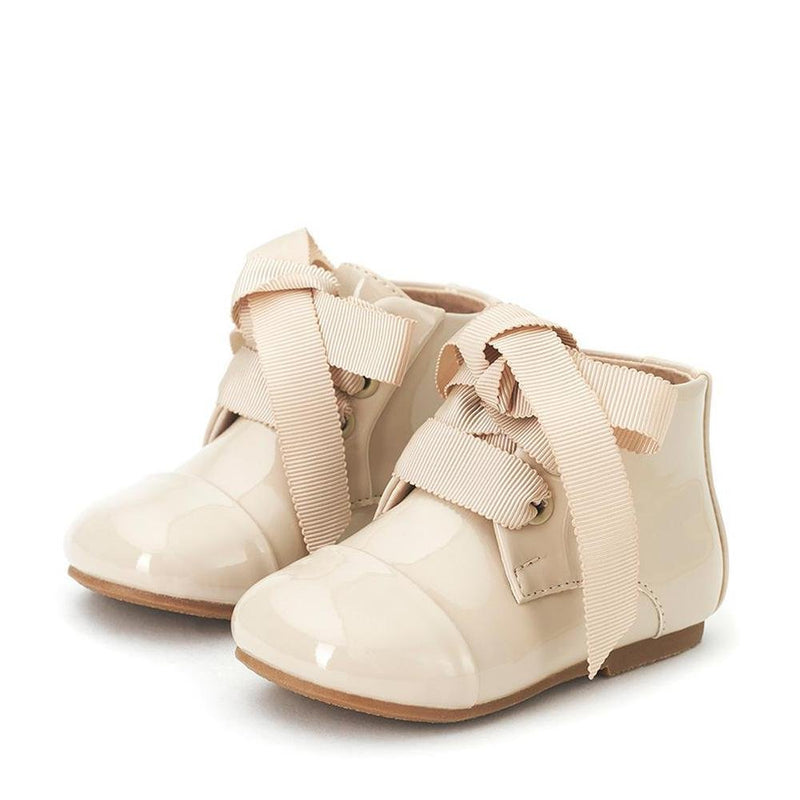 Jane PL Beige Boots by Age of Innocence