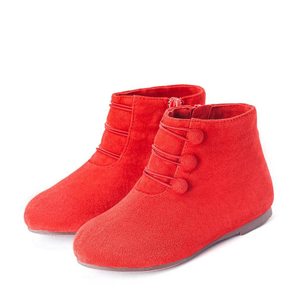 Vivian Suede Red Boots by Age of Innocence