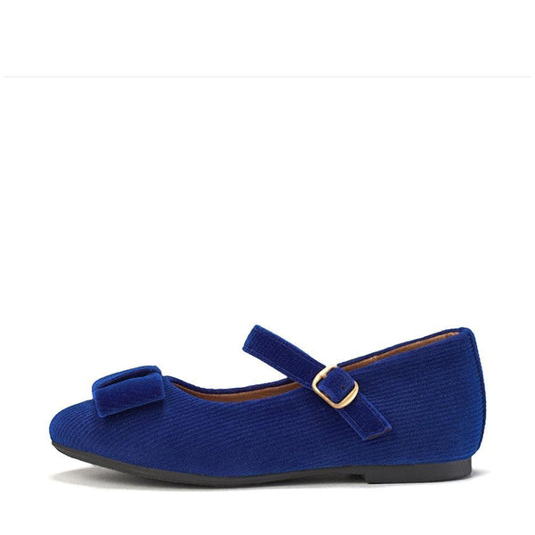 Ellen Ribbed Velvet Navy Shoes by Age of Innocence
