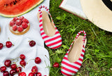 Matilda Canvas Red Sandals by Age of Innocence