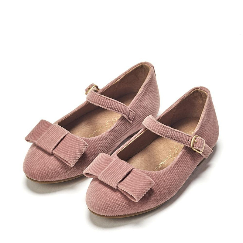 Ellen Ribbed Velvet Pink Shoes by Age of Innocence