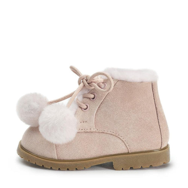 Zoey Pompon Pink Boots by Age of Innocence