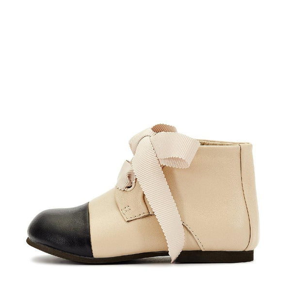 Jane Beige-Black Boots by Age of Innocence