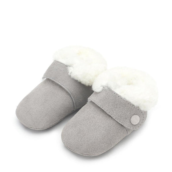 MiniMuni Grey Pre Walkers by Age of Innocence