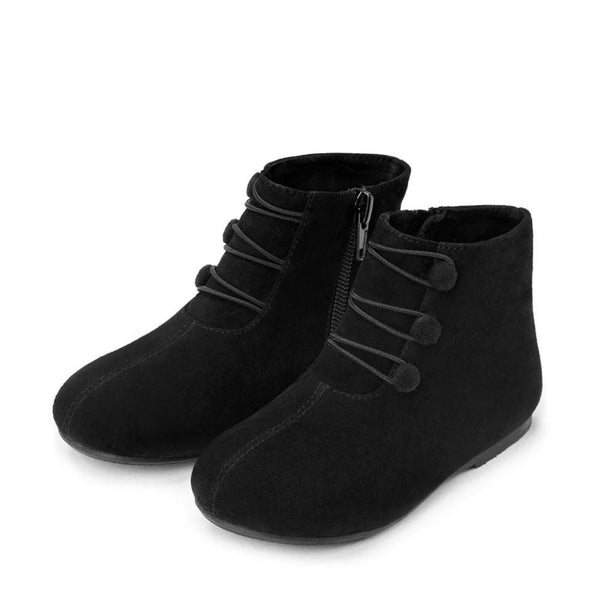 Vivian Suede Black Boots by Age of Innocence