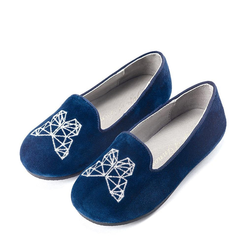 Emma Navy Slippers and Indoor Shoes by Age of Innocence