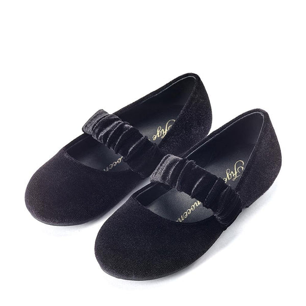 Anna Velvet Black Shoes by Age of Innocence