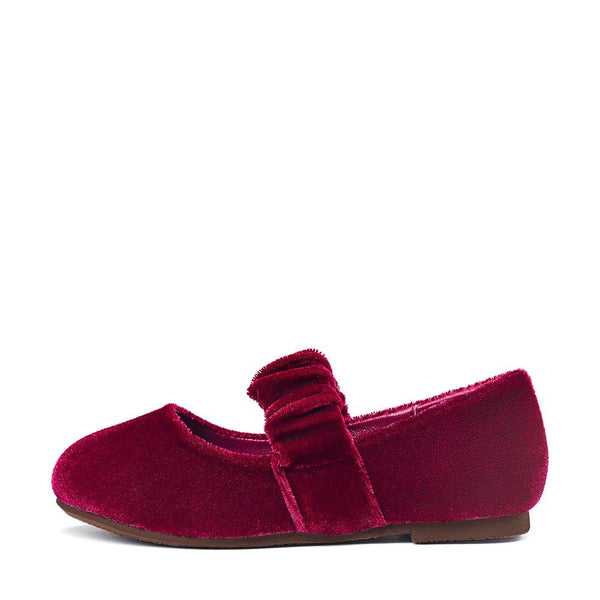 Anna Velvet Burgundy Shoes by Age of Innocence