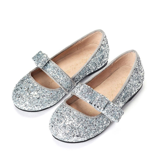Mia Glitter Silver Shoes by Age of Innocence