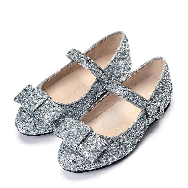 Ellen Glitter Silver Shoes by Age of Innocence