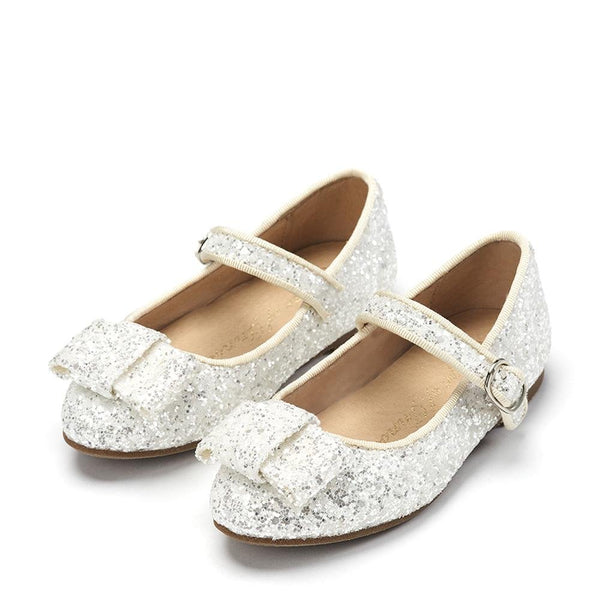 Ellen Glitter White Shoes by Age of Innocence