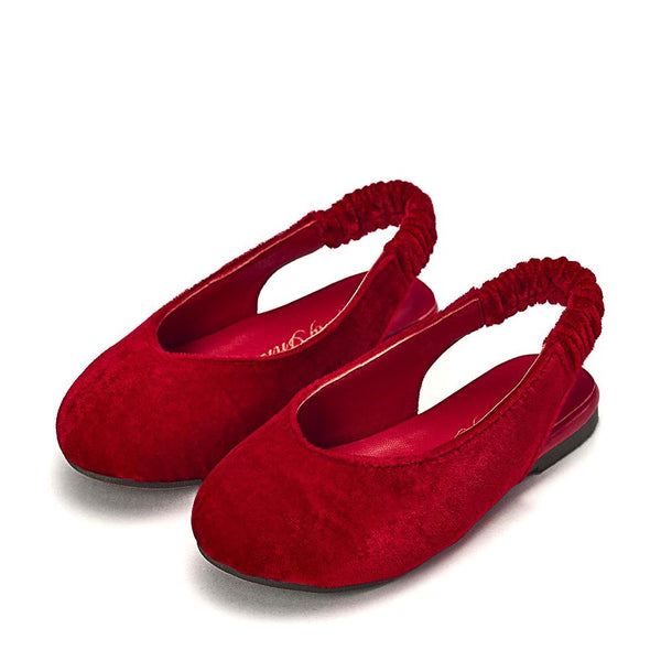 Matilda Velvet Red Sandals by Age of Innocence