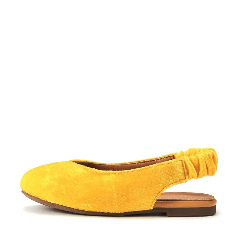Matilda Velvet Yellow Sandals by Age of Innocence