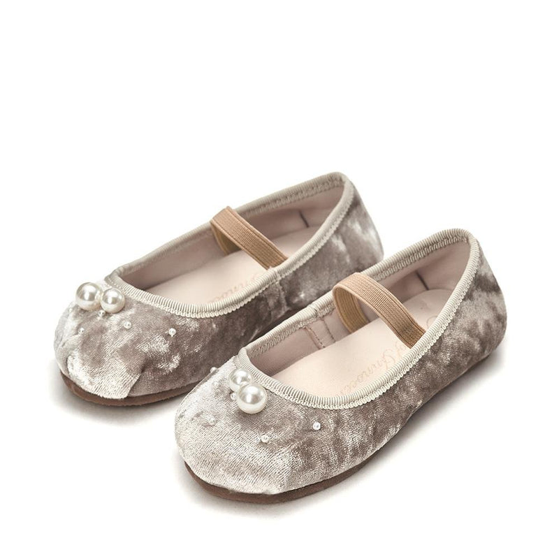 Zelda Grey Ballerinas by Age of Innocence