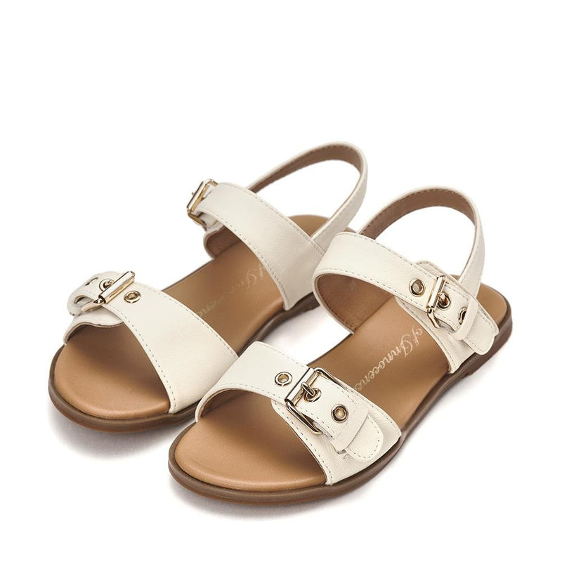 Zara White Sandals by Age of Innocence