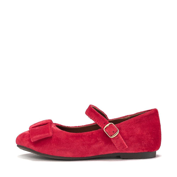 Ellen Velvet Berry Red Shoes by Age of Innocence
