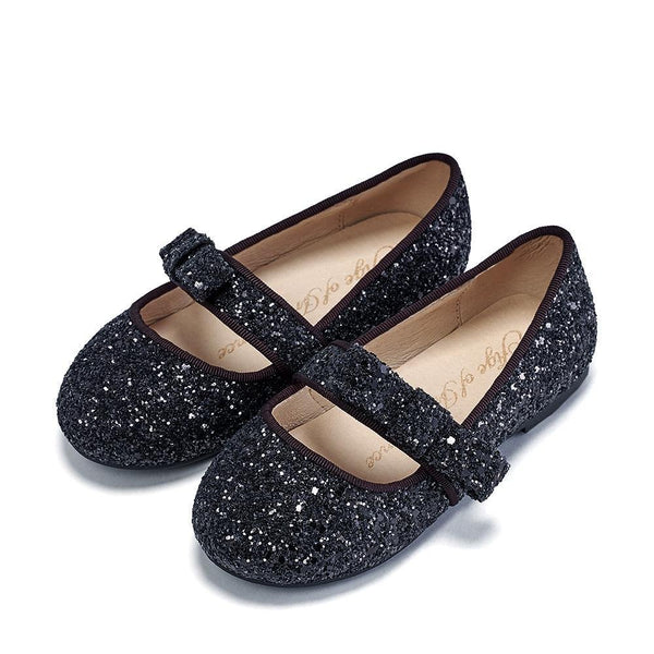 Mia Glitter Black Shoes by Age of Innocence