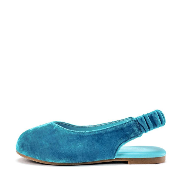 Matilda Velvet Azure Sandals by Age of Innocence