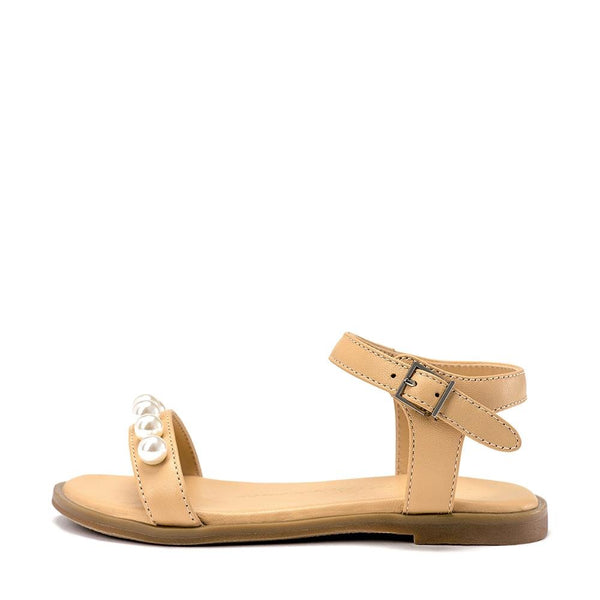 Fleur Beige Sandals by Age of Innocence