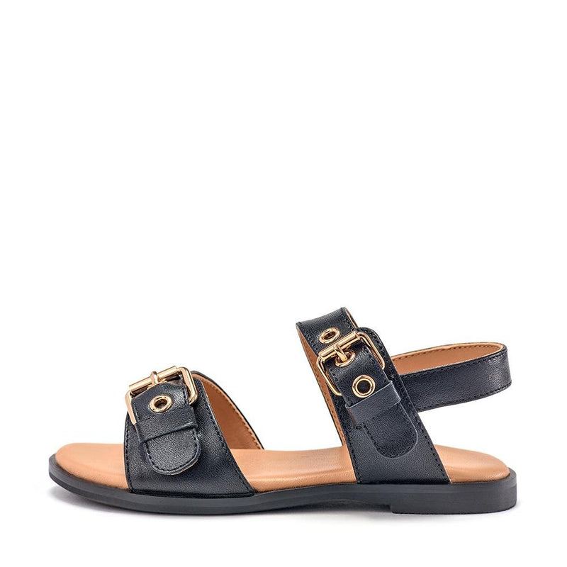 Zara Black Sandals by Age of Innocence