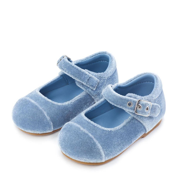 Jenny Velvet Blue Shoes by Age of Innocence