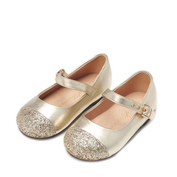 Eva Lg Gold Shoes by Age of Innocence
