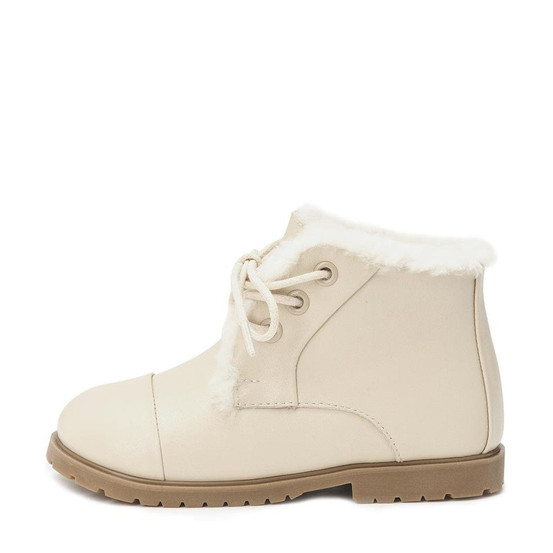 Zoey Leather Milk Boots by Age of Innocence