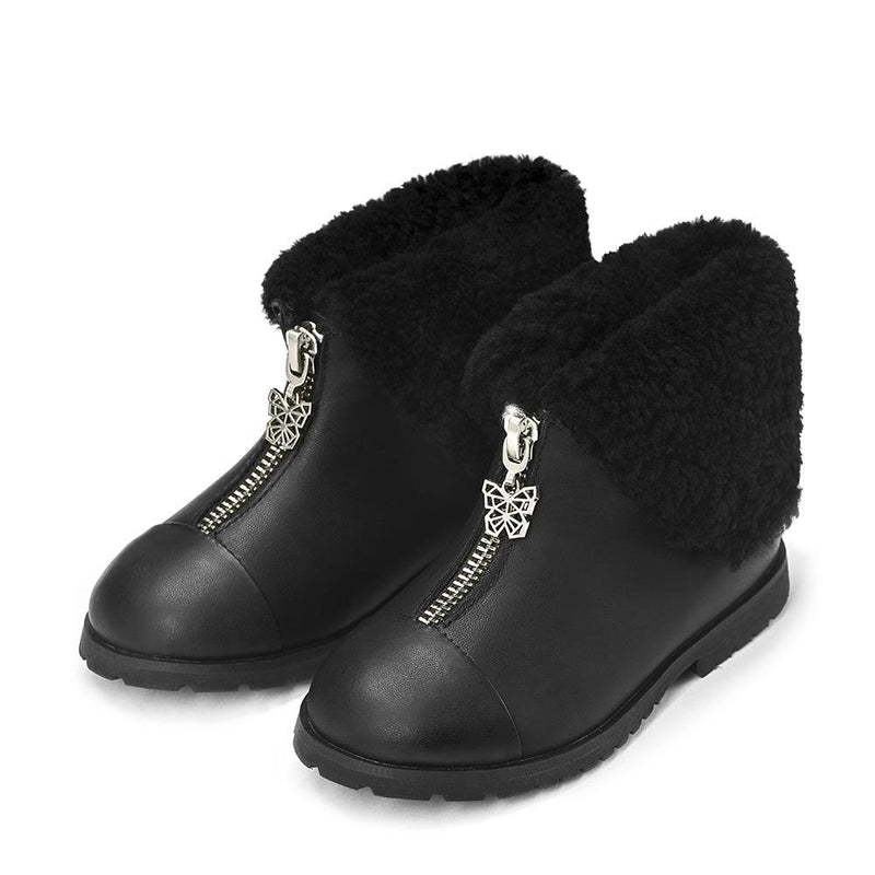 Lucia Black Boots by Age of Innocence