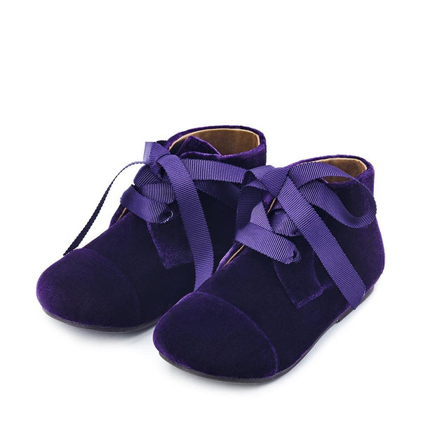 Jane Velvet Violet Boots by Age of Innocence