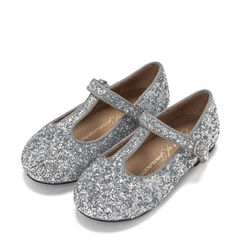 Abigail Glitter Silver Shoes by Age of Innocence