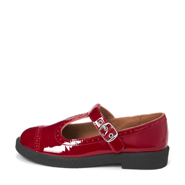 Agathe Burgundy Shoes by Age of Innocence