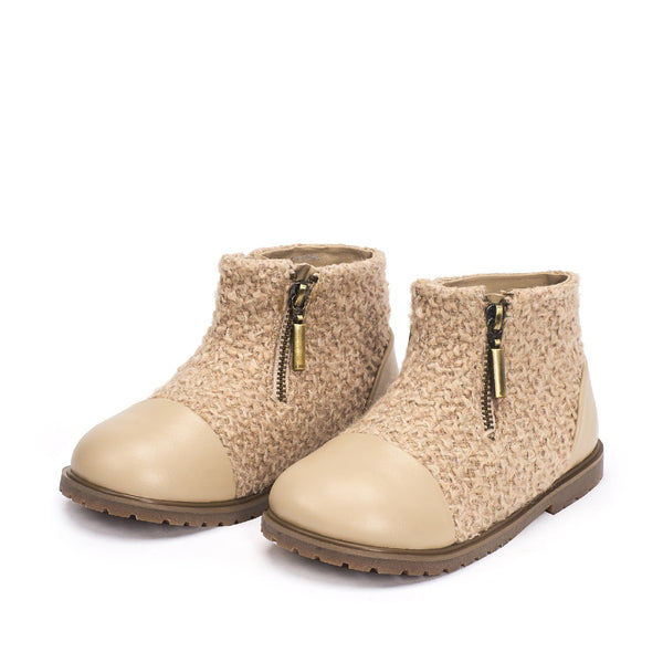 Ava Beige Boots by Age of Innocence