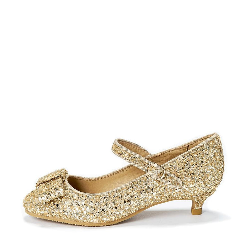 Ellen 2.0 Glitter Gold Shoes by Age of Innocence