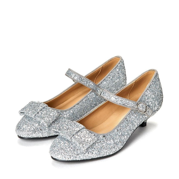 Ellen 2.0 Glitter Silver Shoes by Age of Innocence