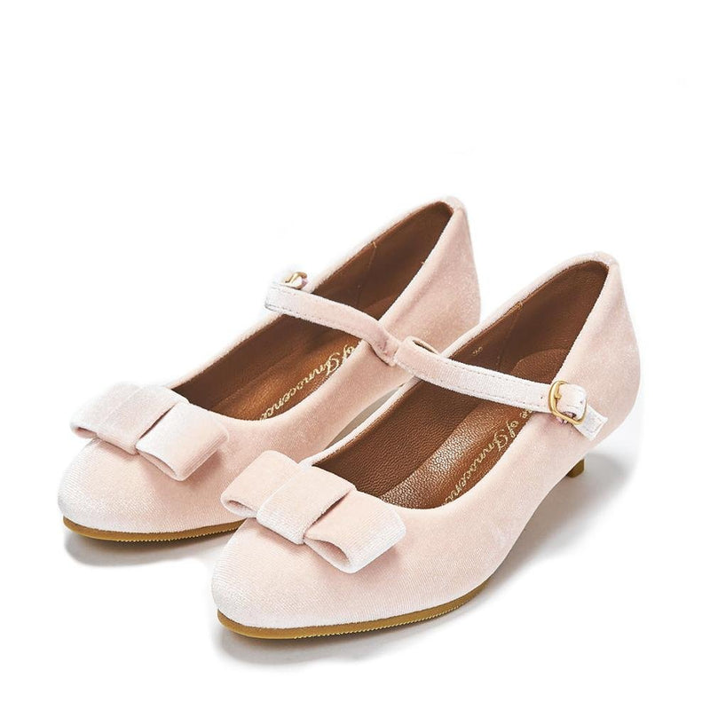 Ellen 2.0 Velvet Pink Shoes by Age of Innocence