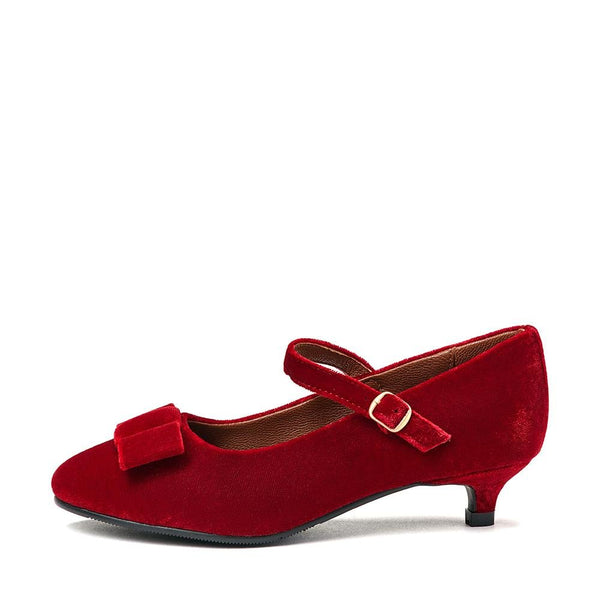Ellen 2.0 Velvet Red Shoes by Age of Innocence