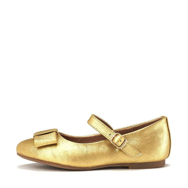 Ellen Leather Gold Shoes by Age of Innocence