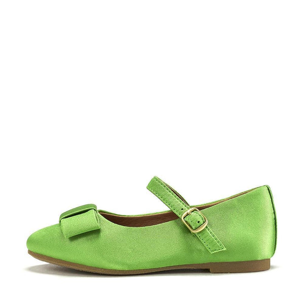 Ellen Satin Green Shoes by Age of Innocence